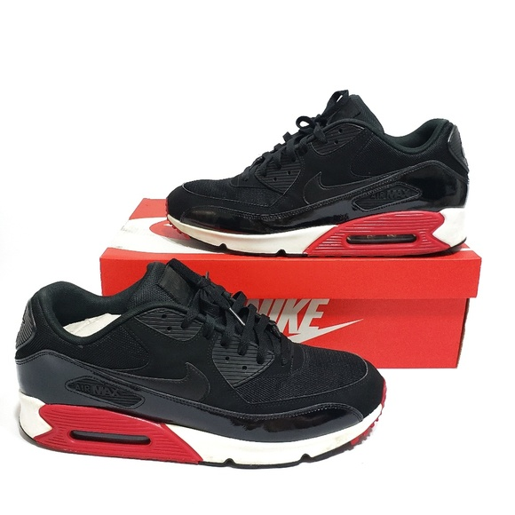 6f92d446b4 Nike Air Max 90 Essential Men's 14 Black Red White.  M_5b63c226fe515142bac34bd6